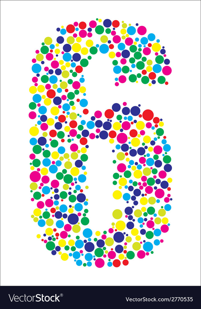 Number six vector | Price: 1 Credit (USD $1)