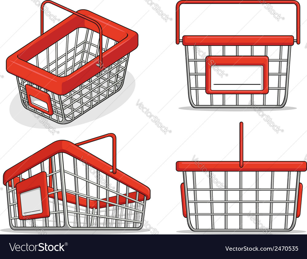 Shopping bucket from several positions vector | Price: 1 Credit (USD $1)