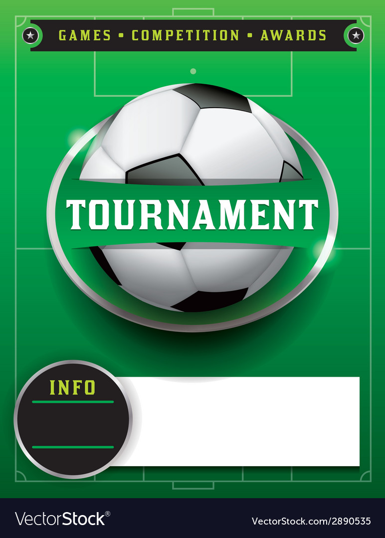 Soccer tournament template vector | Price: 1 Credit (USD $1)