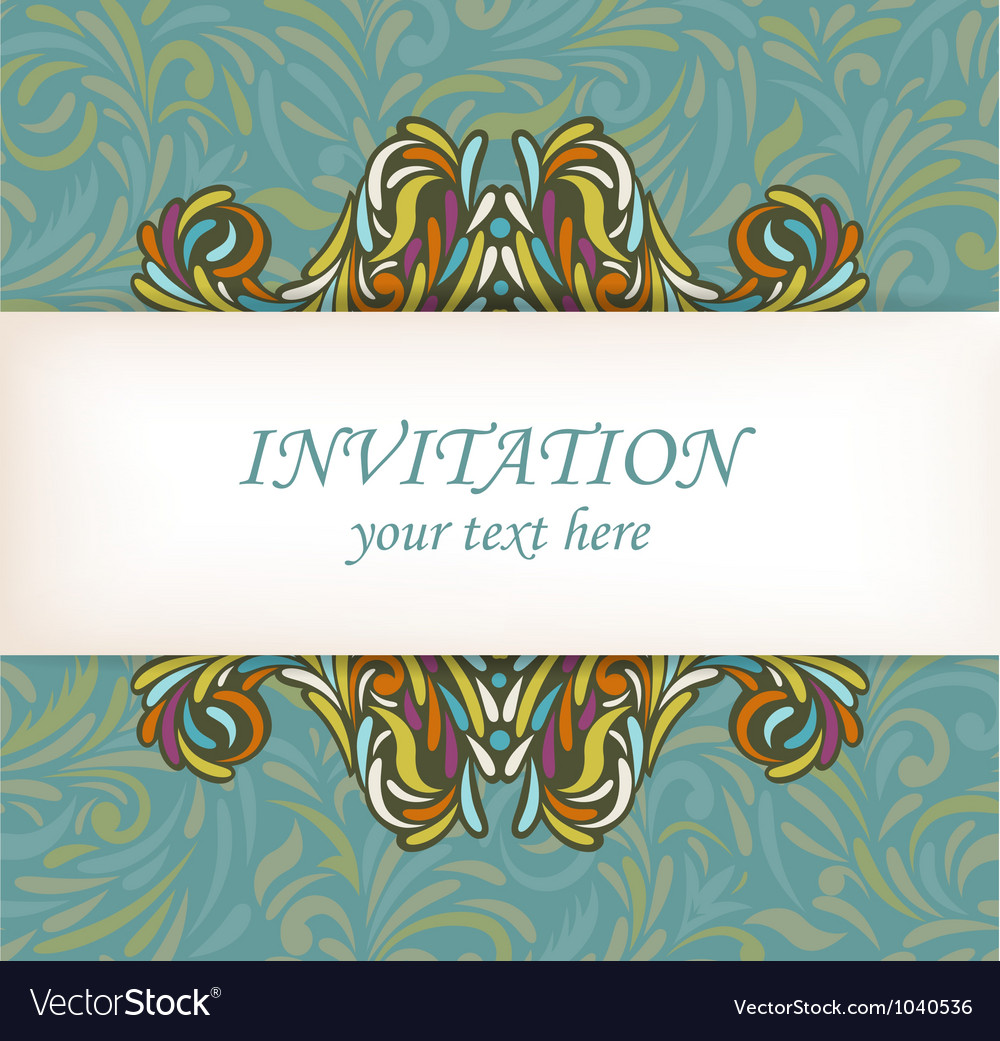 Abstract floral card vector | Price: 1 Credit (USD $1)