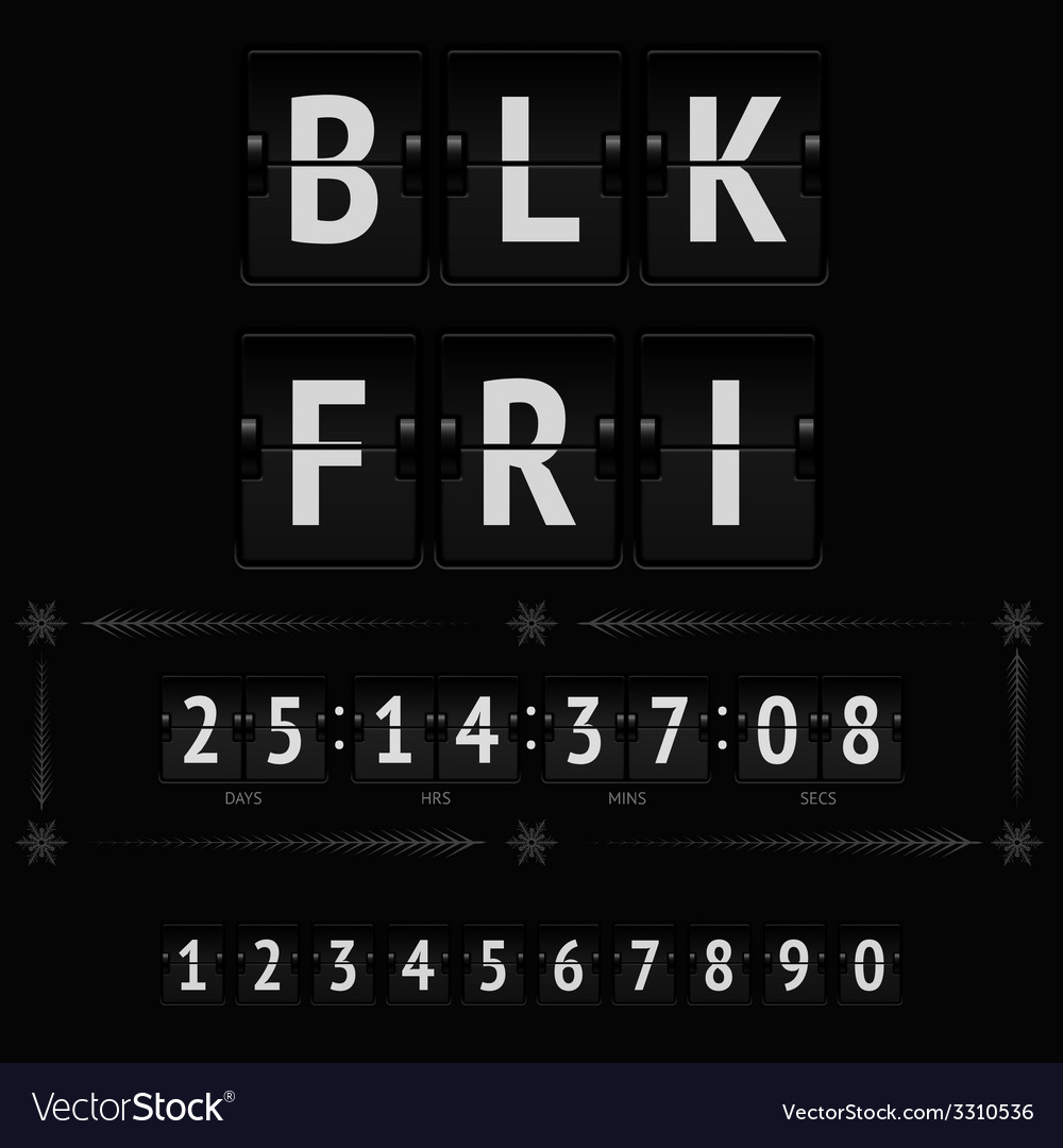 Black friday countdown timer vector | Price: 1 Credit (USD $1)