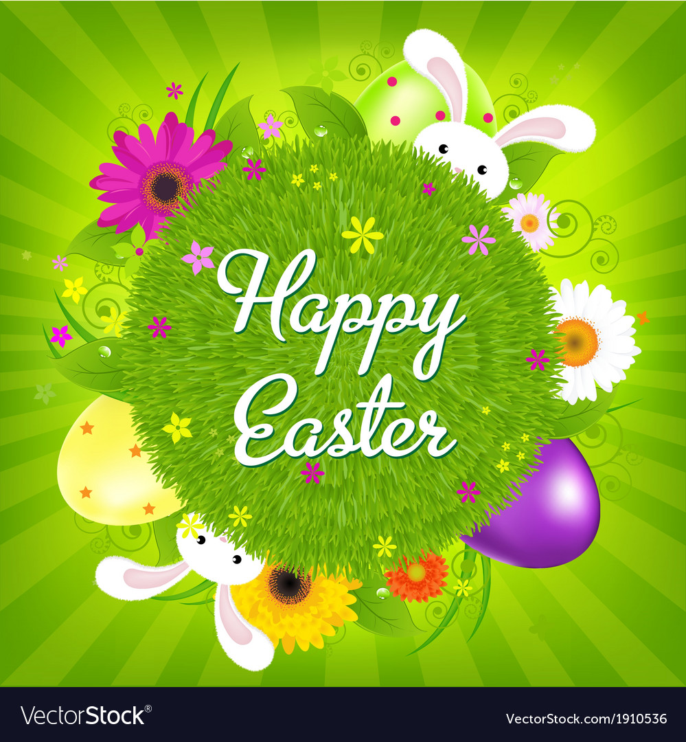 Colorful happy easter card vector | Price: 1 Credit (USD $1)