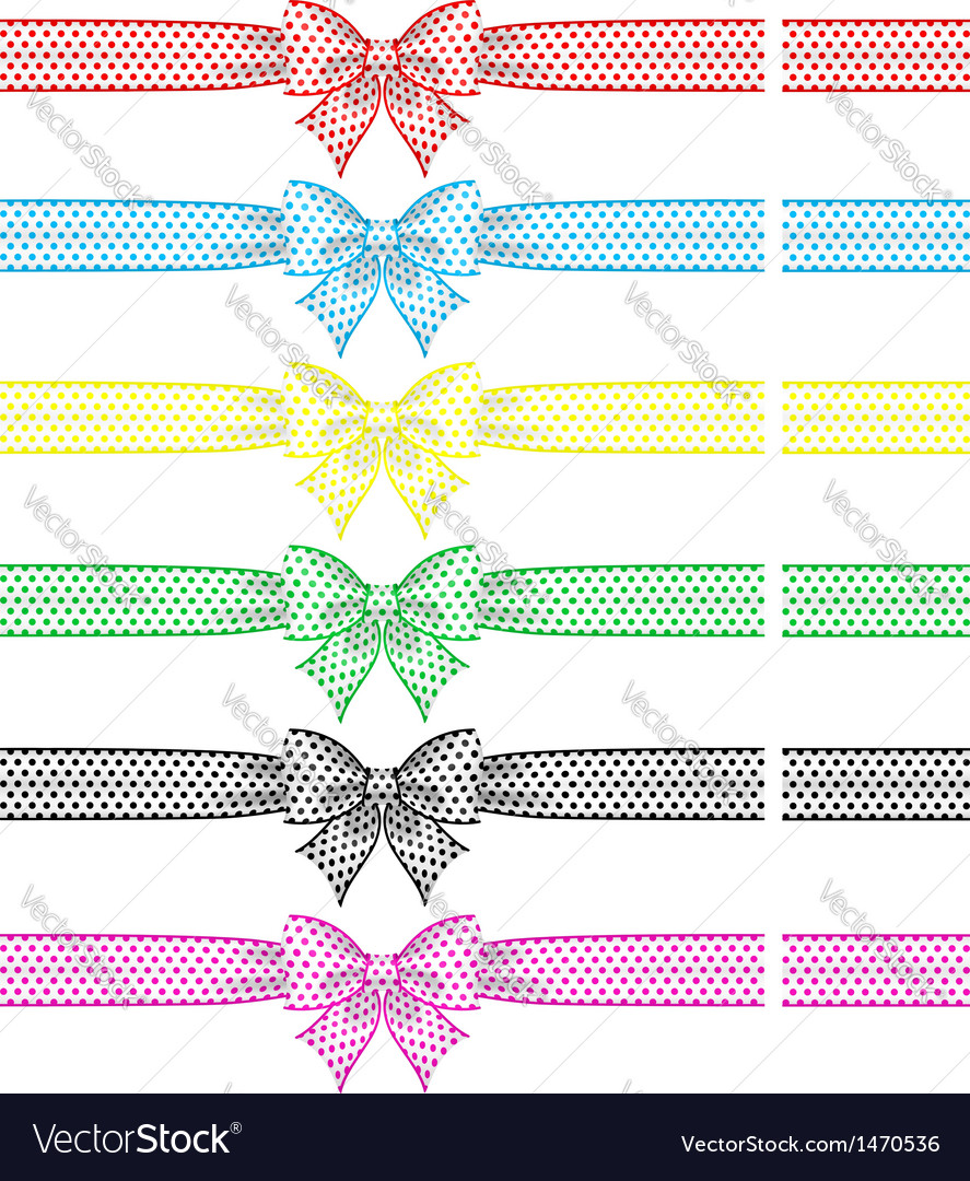 Festive bows with ribbons vector | Price: 1 Credit (USD $1)