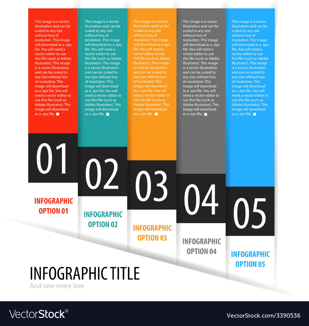 Infographics options banner steps set with icons vector | Price: 1 Credit (USD $1)
