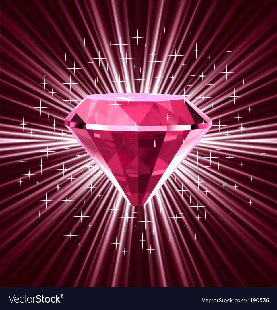 Red diamond on bright background vector | Price: 1 Credit (USD $1)