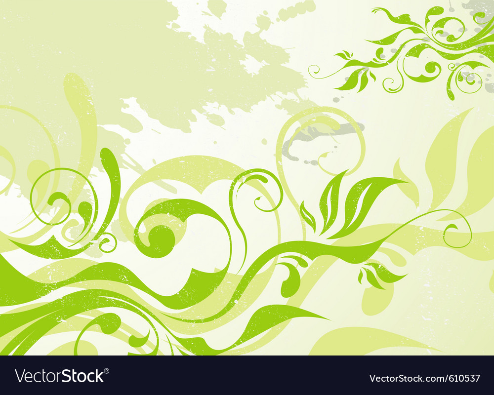 Abstract green summer background vector | Price: 1 Credit (USD $1)