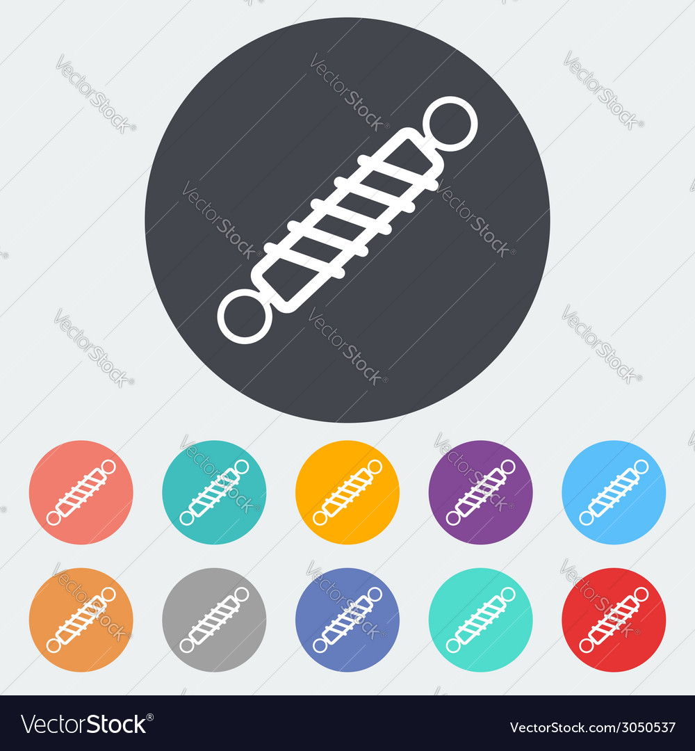 Automobile shock absorber single icon vector | Price: 1 Credit (USD $1)