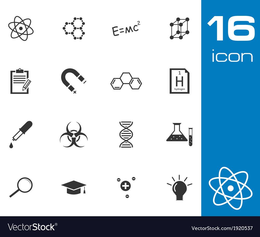 Black science icon set vector   Price: 1 Credit (USD $1)