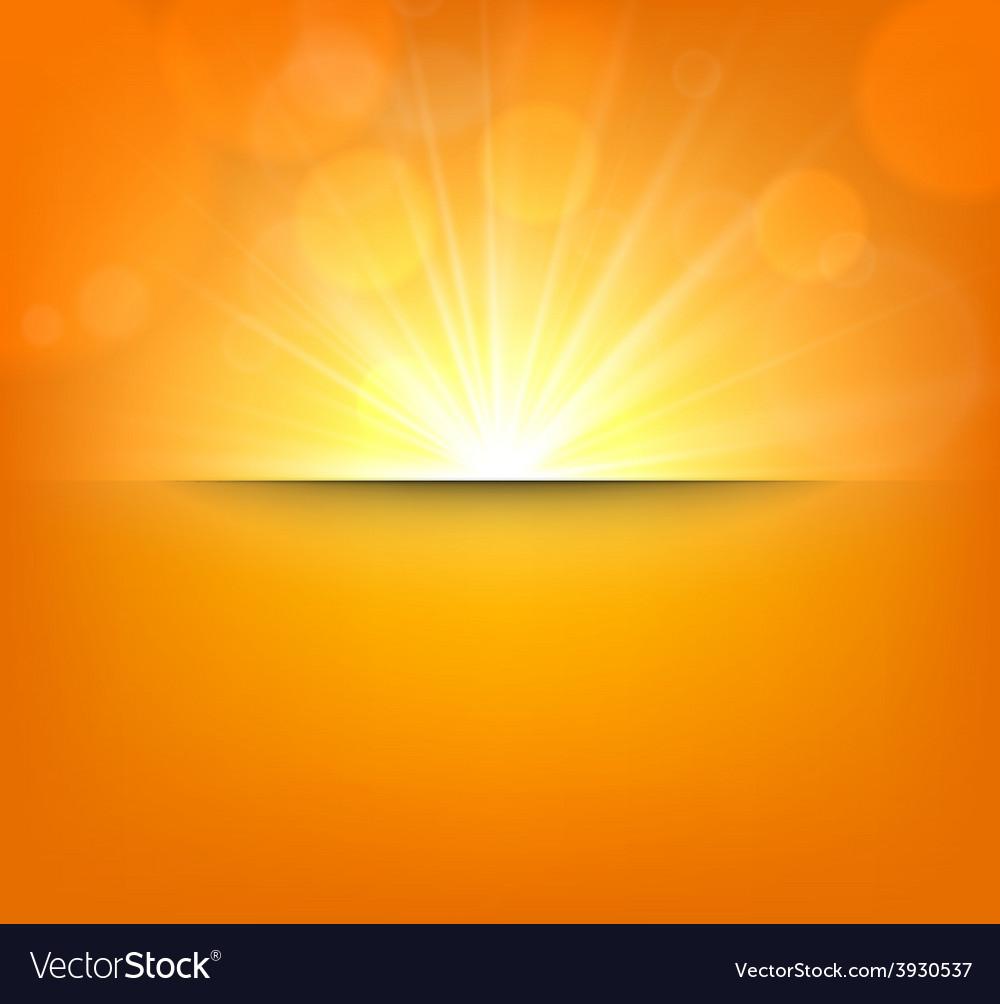 Blurry orange background with lens flare vector | Price: 1 Credit (USD $1)