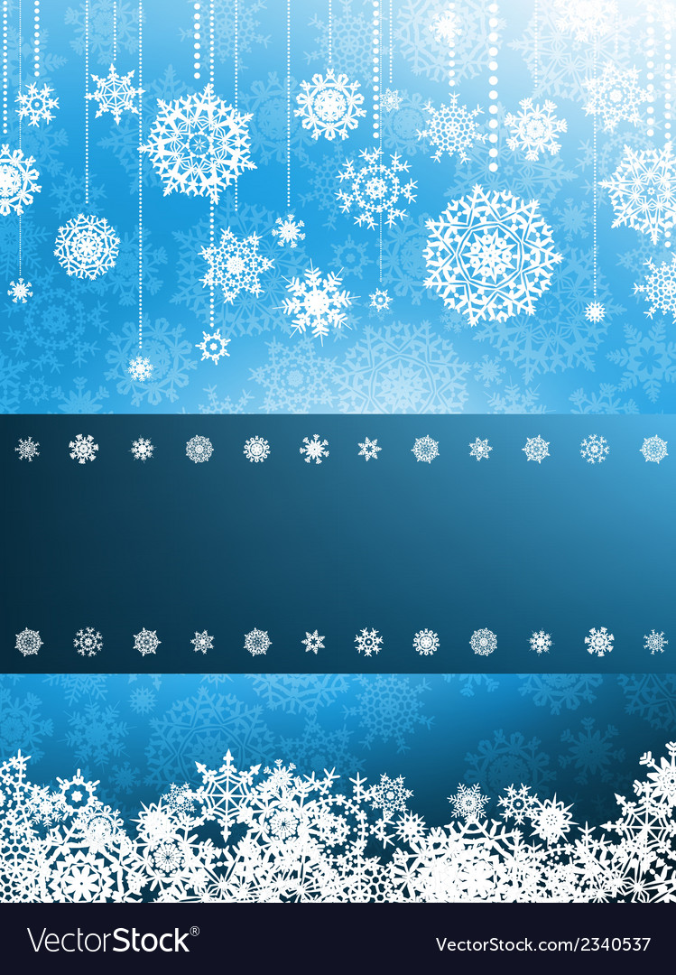 Christmas card with christmas snowflake eps 8 vector | Price: 1 Credit (USD $1)