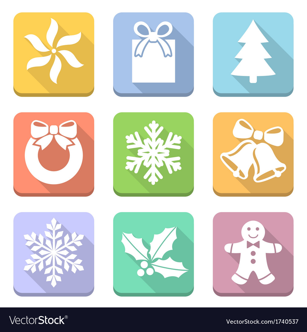 Christmas flat vector | Price: 1 Credit (USD $1)