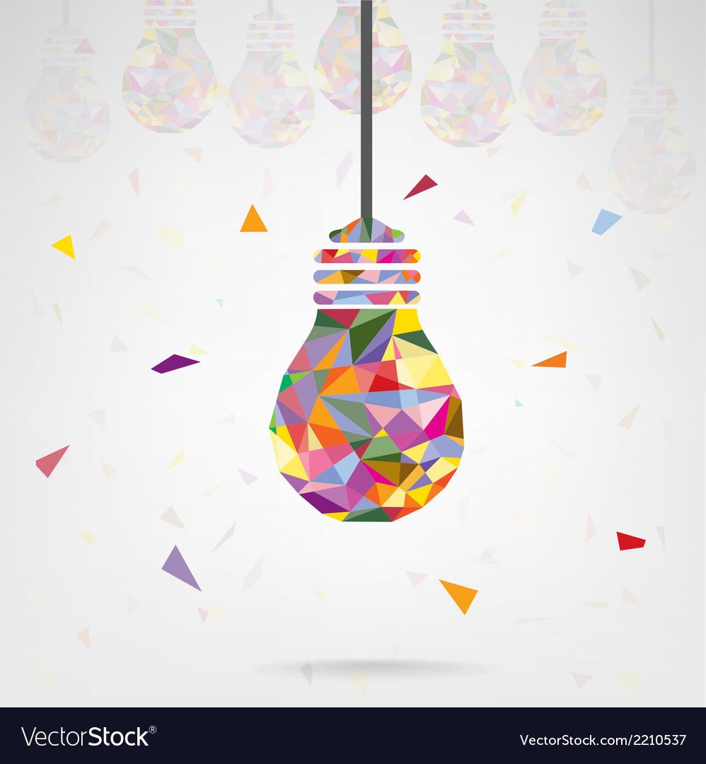 Creative light bulb idea concept vector | Price: 1 Credit (USD $1)