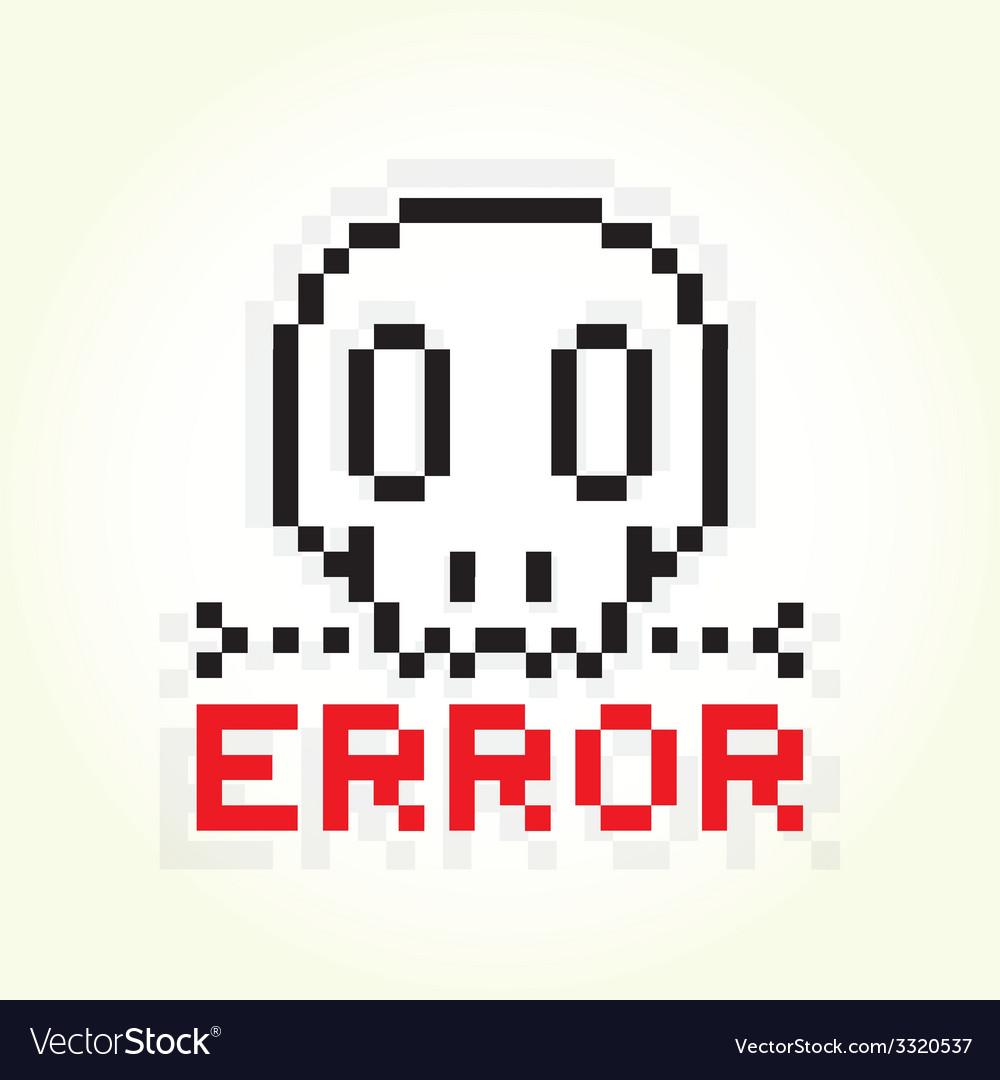 Error message skull vector | Price: 1 Credit (USD $1)