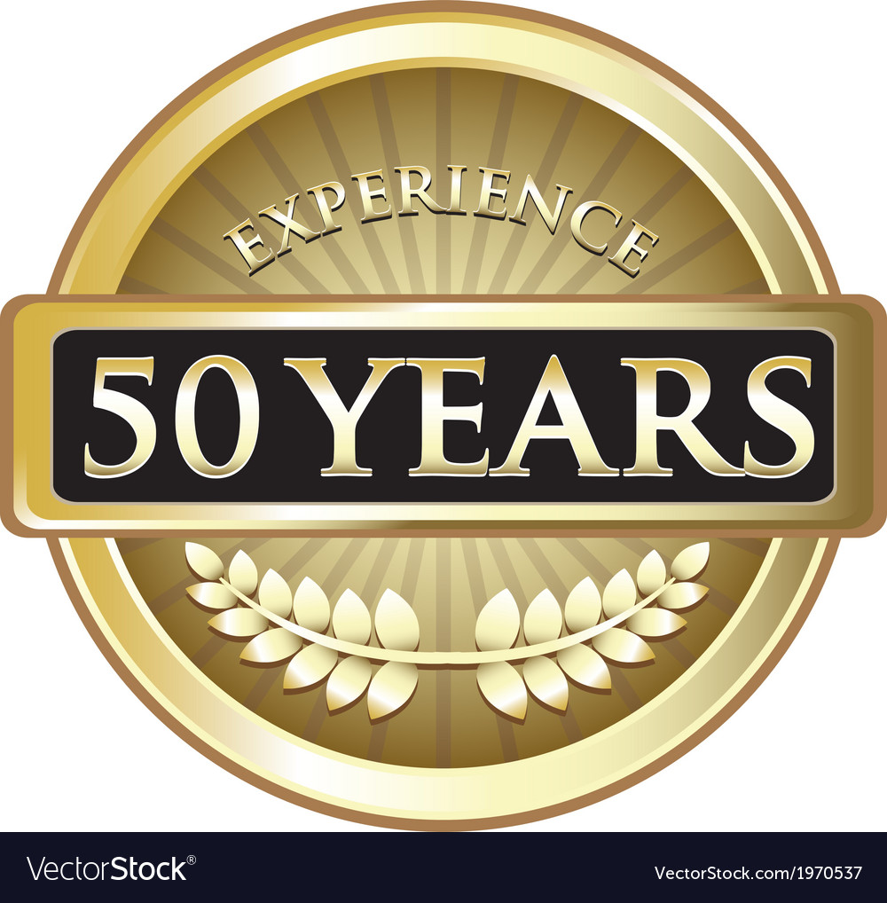 Fifty years experience gold vector | Price: 1 Credit (USD $1)