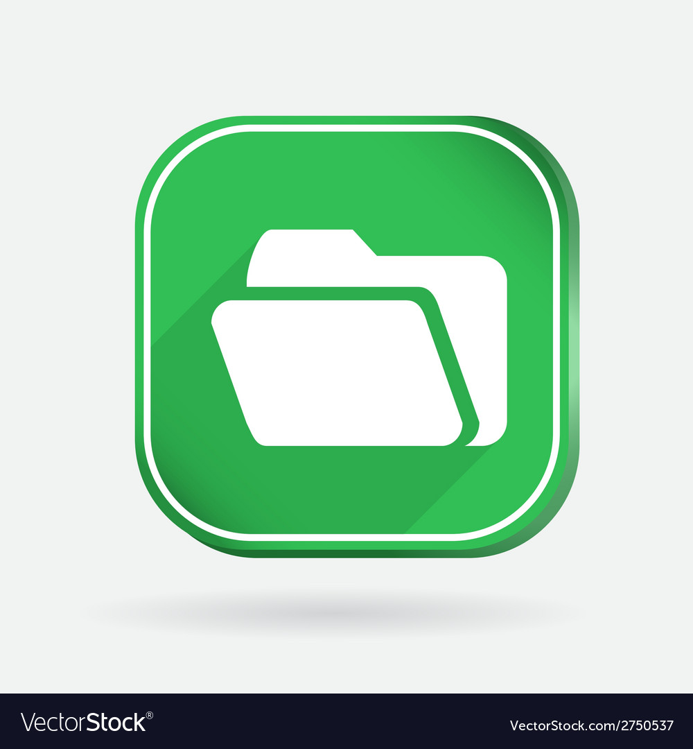 Folder for documents color square icon vector | Price: 1 Credit (USD $1)