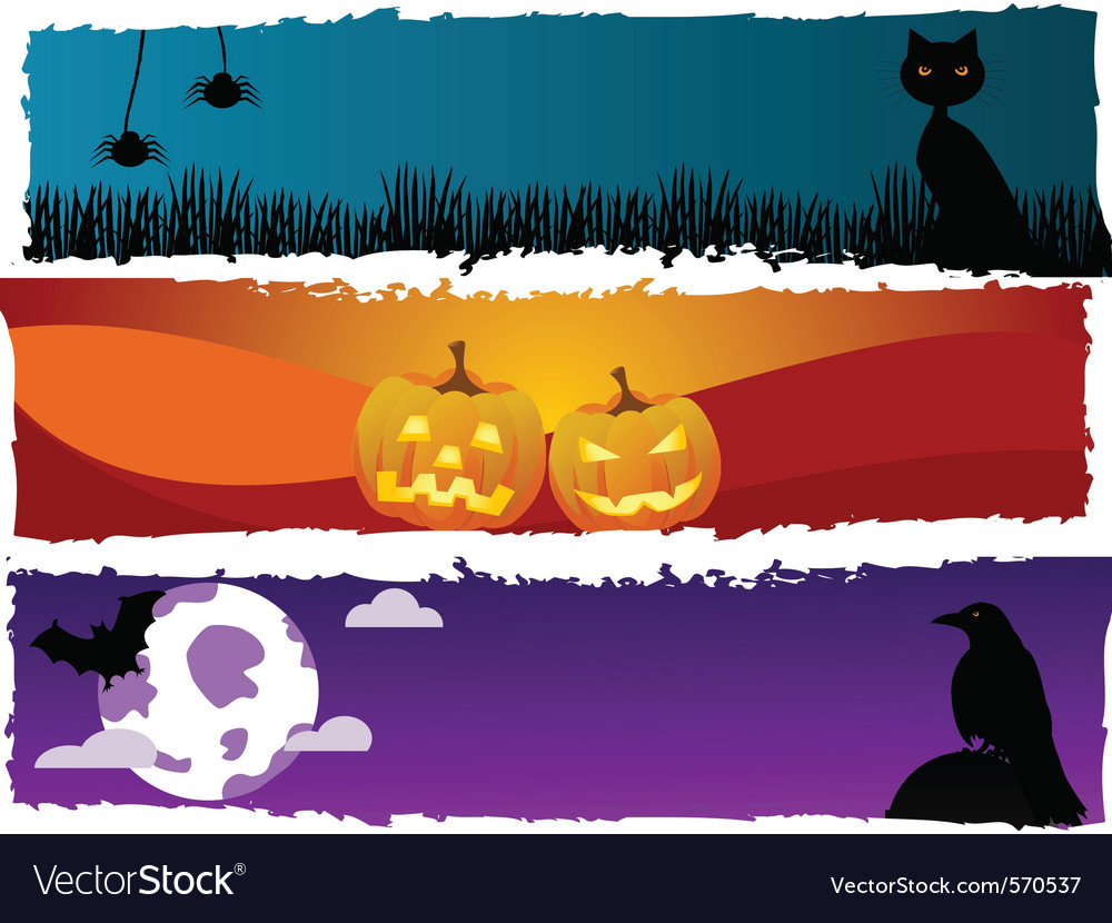 Halloween scenes vector | Price: 1 Credit (USD $1)