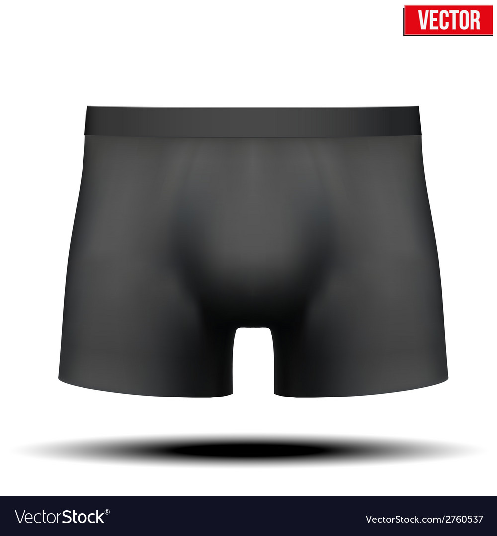Male black underpants brief isolated on background vector | Price: 1 Credit (USD $1)
