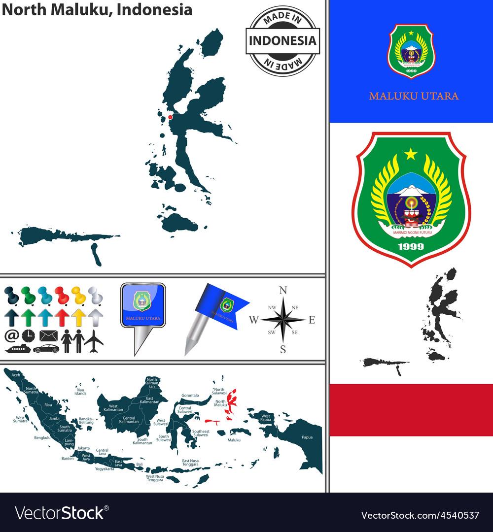 Map of north maluku vector | Price: 1 Credit (USD $1)
