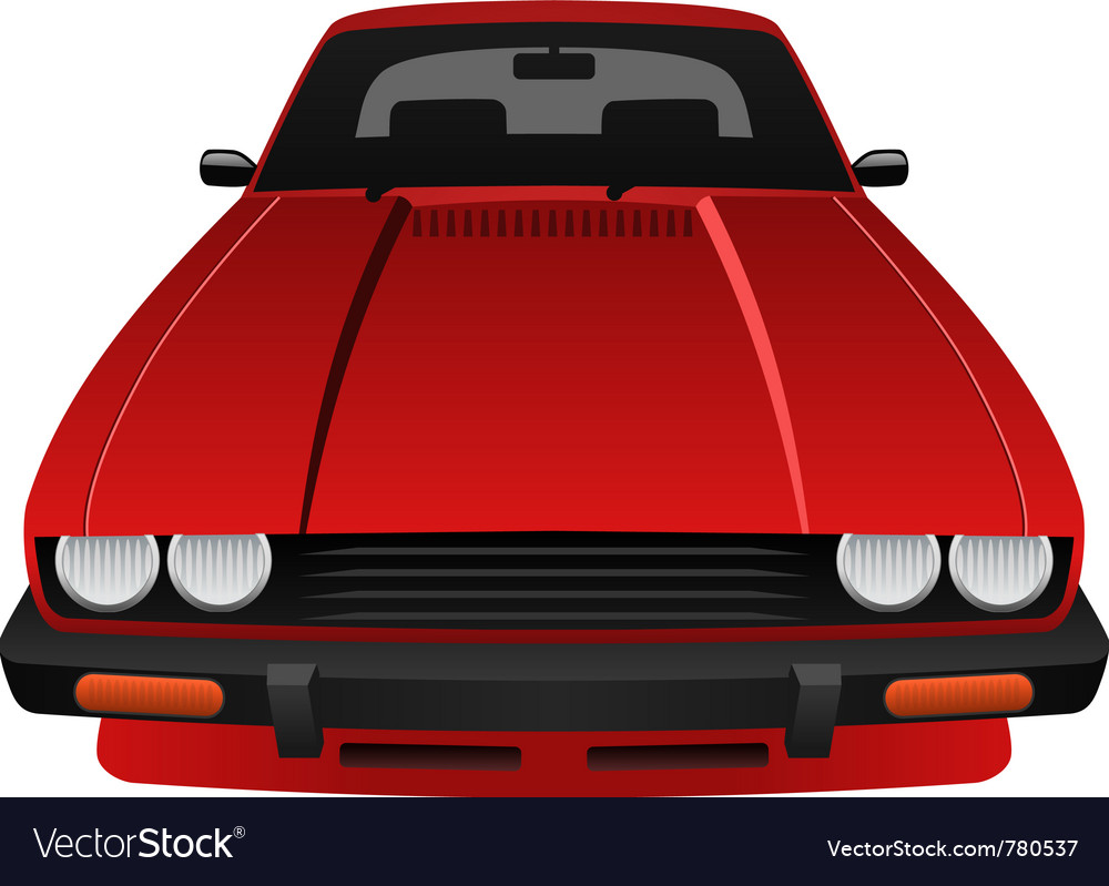 Red car vector | Price: 1 Credit (USD $1)
