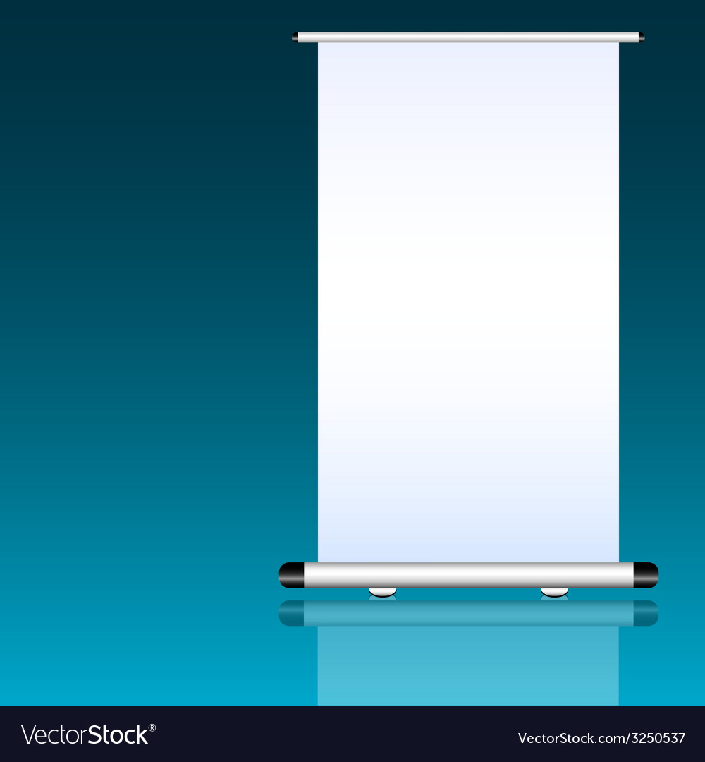 Roll up with white background vector | Price: 1 Credit (USD $1)