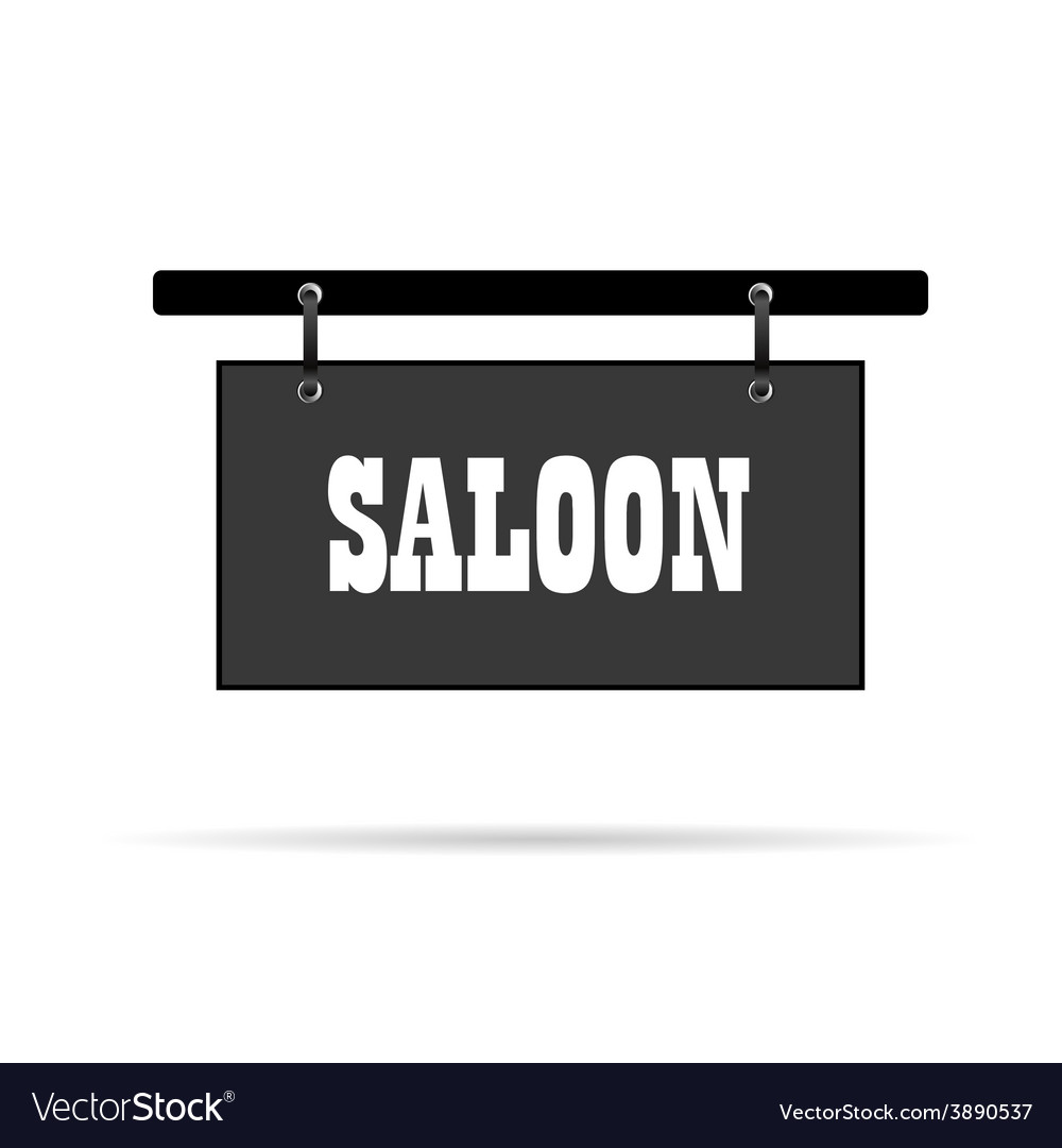 Saloon wild signboard vector | Price: 1 Credit (USD $1)