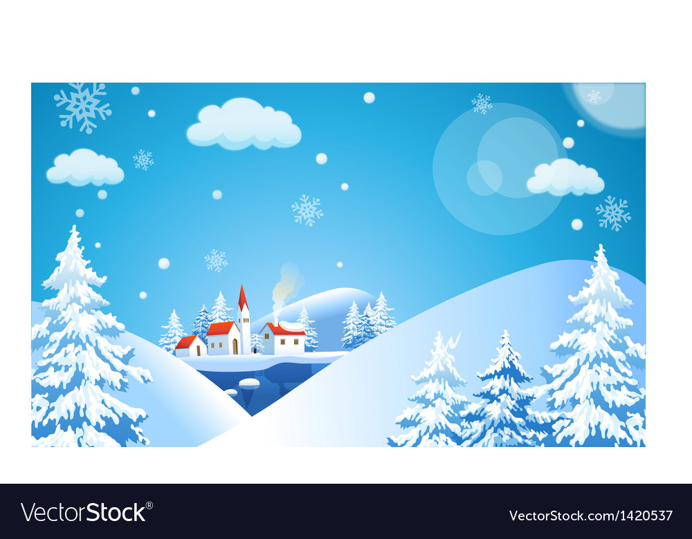 Ski resort background vector | Price: 1 Credit (USD $1)