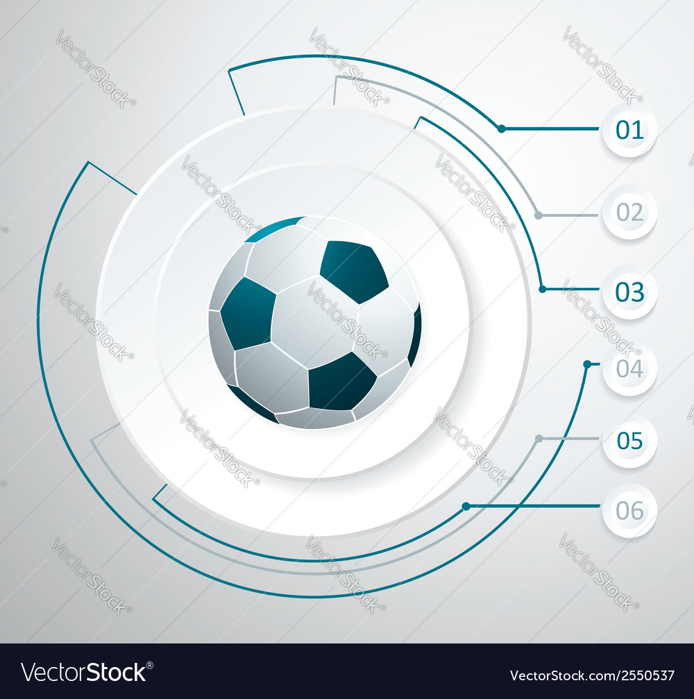 Soccer ball isolated on white vector | Price: 1 Credit (USD $1)