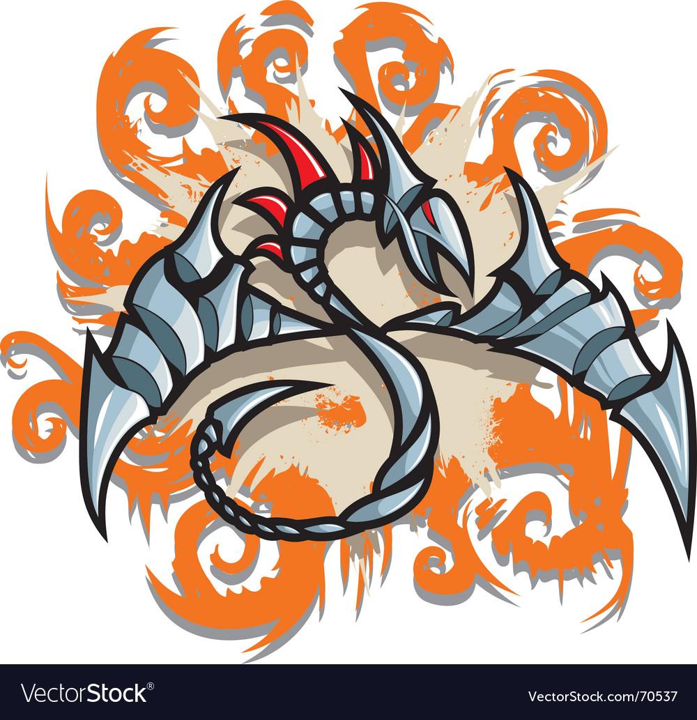 Steel dragon vector | Price: 1 Credit (USD $1)