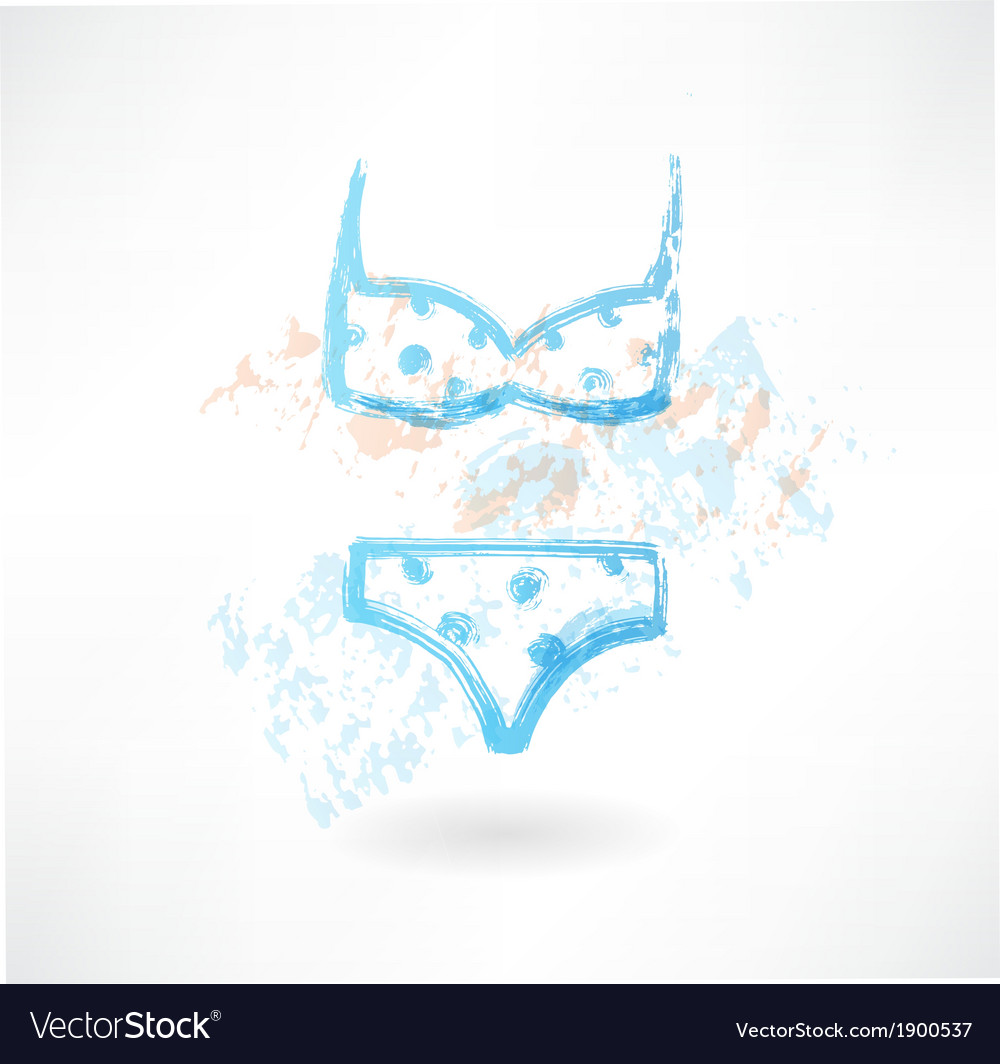 Swimsuit grunge icon vector | Price: 1 Credit (USD $1)