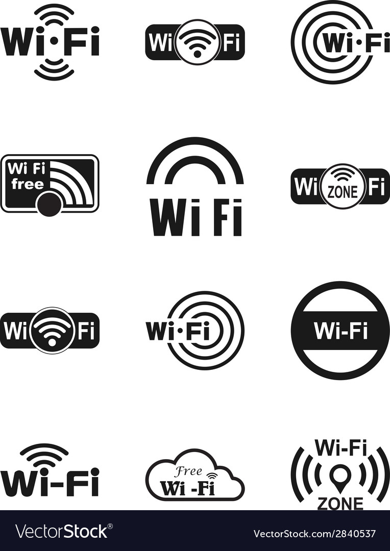 Wifi icons vector | Price: 1 Credit (USD $1)