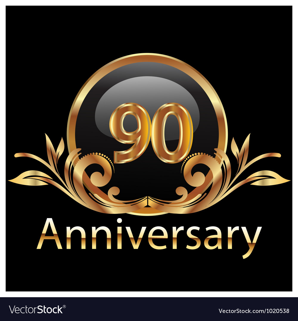 90 anniversary vector | Price: 1 Credit (USD $1)