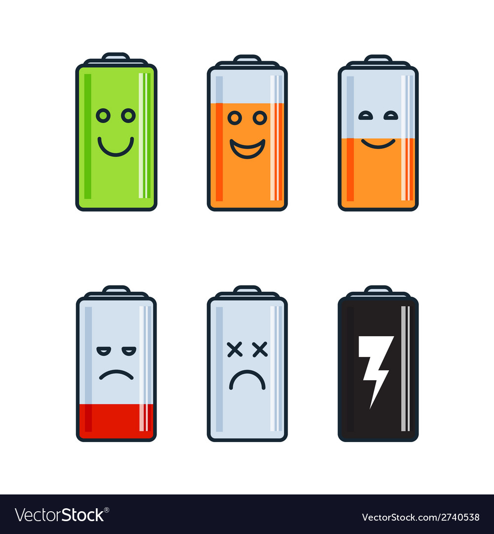 Battery indicator icons vector | Price: 1 Credit (USD $1)