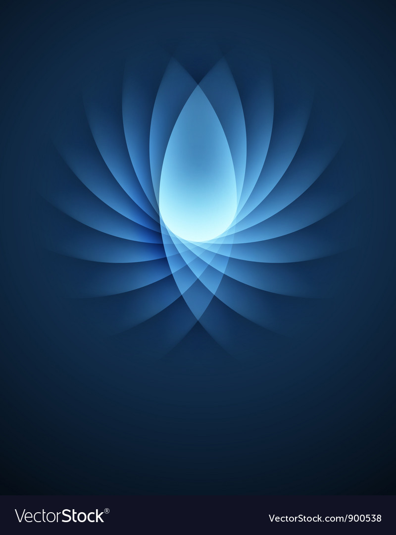 Blue smooth lines background vector | Price: 1 Credit (USD $1)