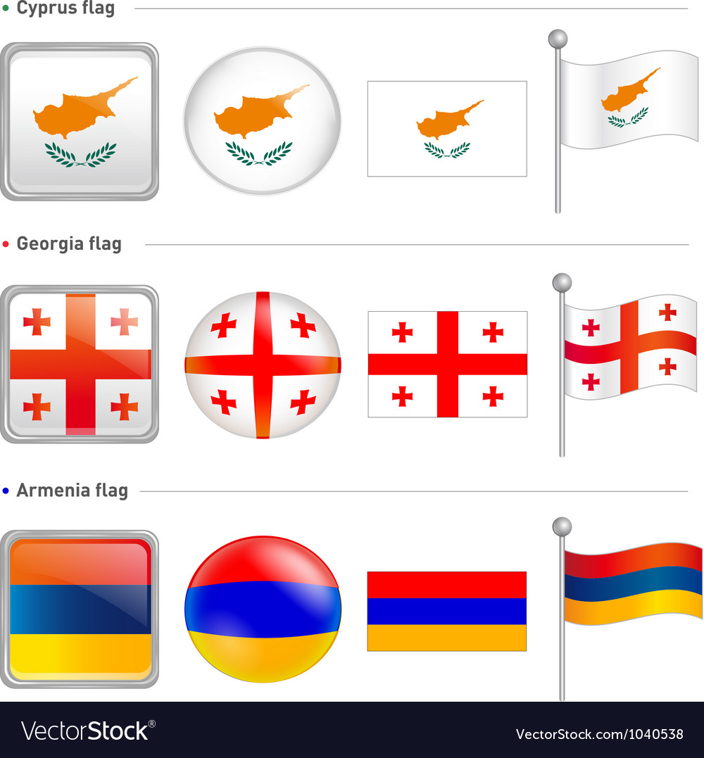 Cyprus georgia armenia flag icon vector | Price: 1 Credit (USD $1)