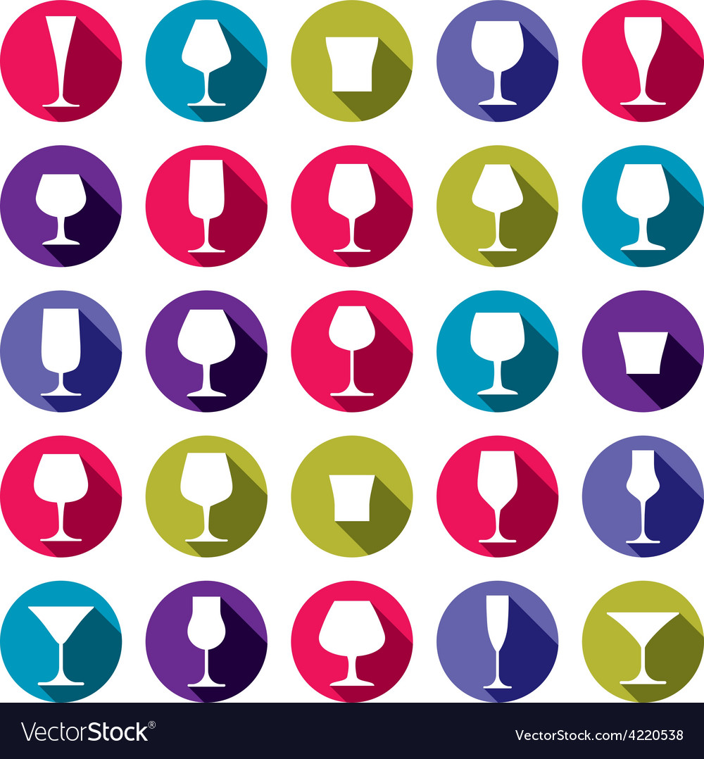 Drinking glasses collection vector | Price: 1 Credit (USD $1)