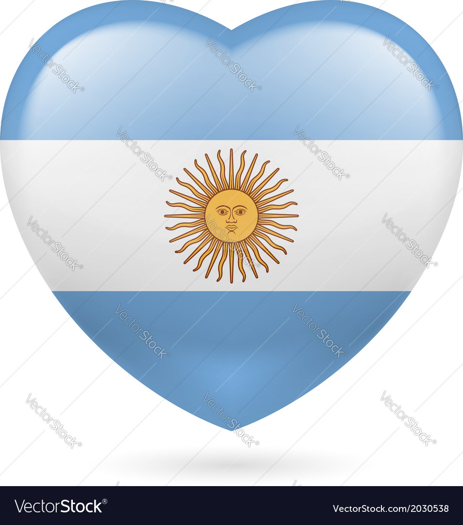 Heart icon of argentina vector | Price: 1 Credit (USD $1)