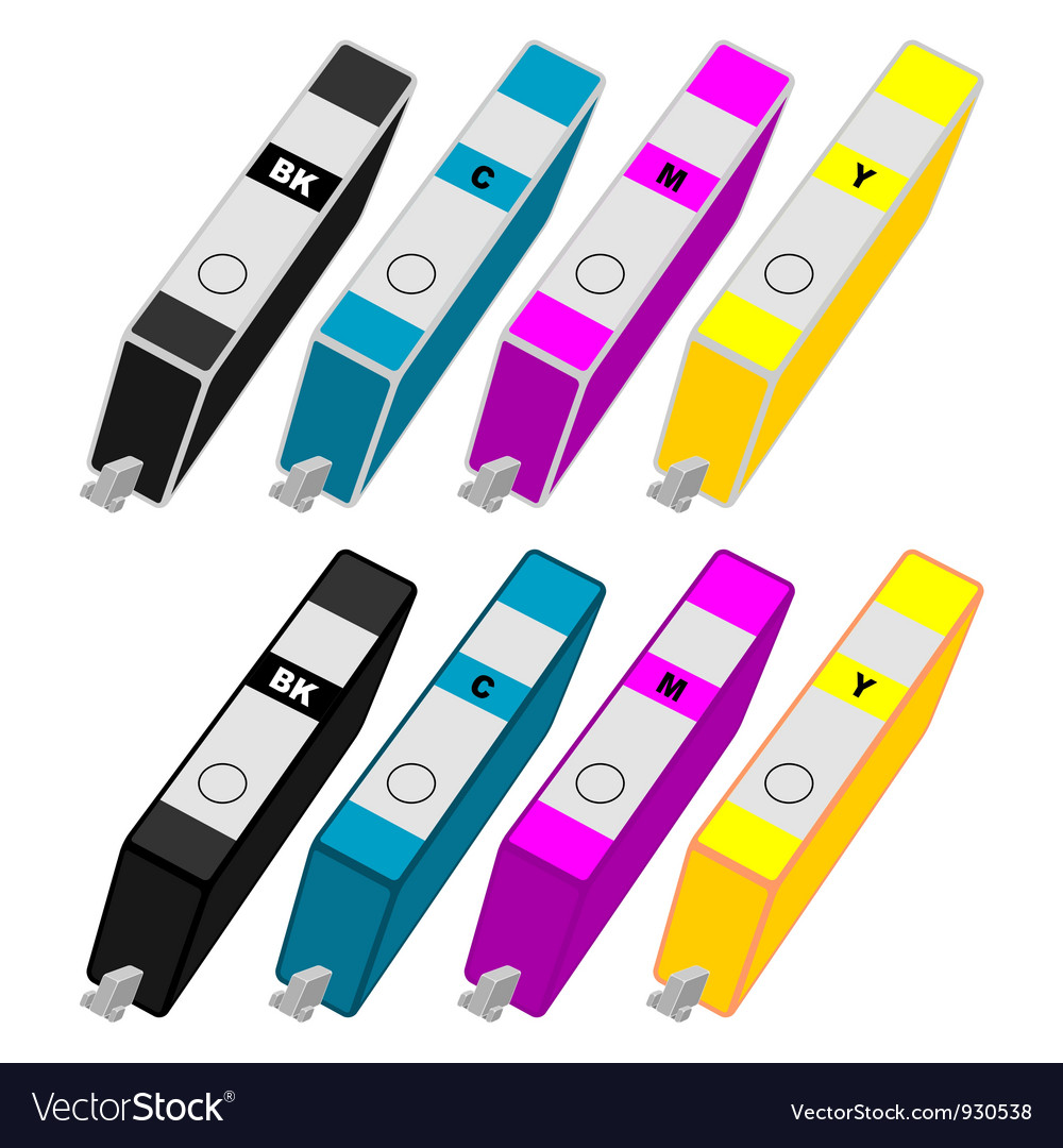 Ink cartridges vector | Price: 3 Credit (USD $3)