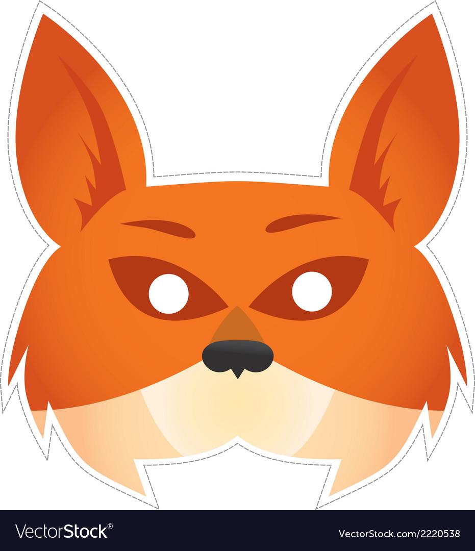 Mask fox vector | Price: 1 Credit (USD $1)