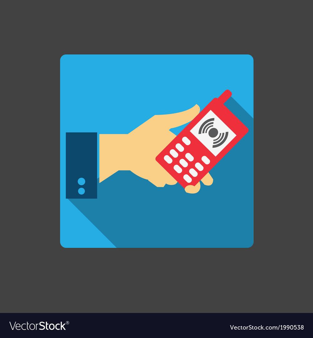 Mobile phone icon vector   Price: 1 Credit (USD $1)