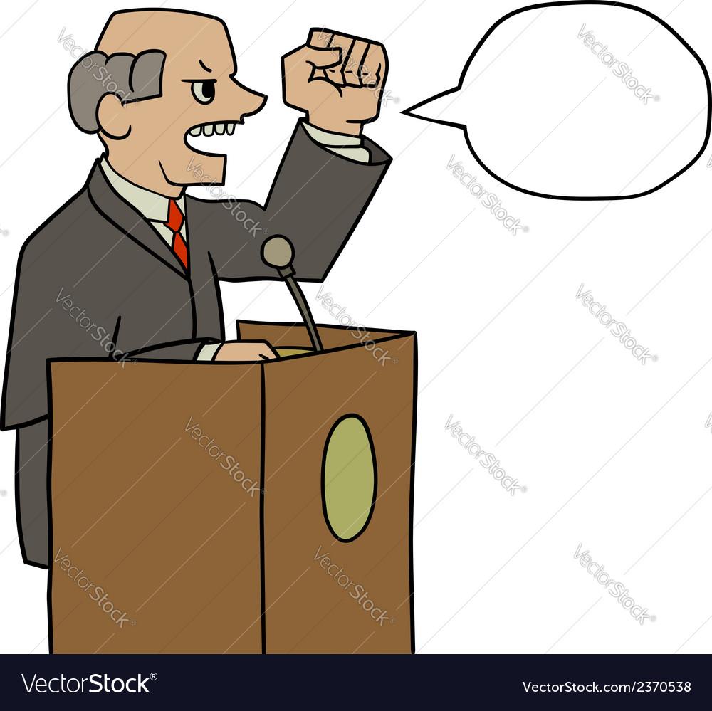Politician vector | Price: 1 Credit (USD $1)