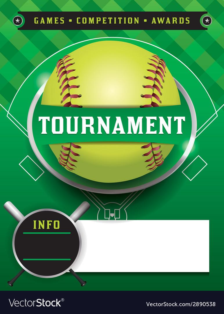 Softball tournament template vector | Price: 1 Credit (USD $1)