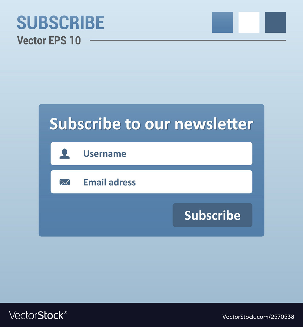 Subscribe box vector | Price: 1 Credit (USD $1)