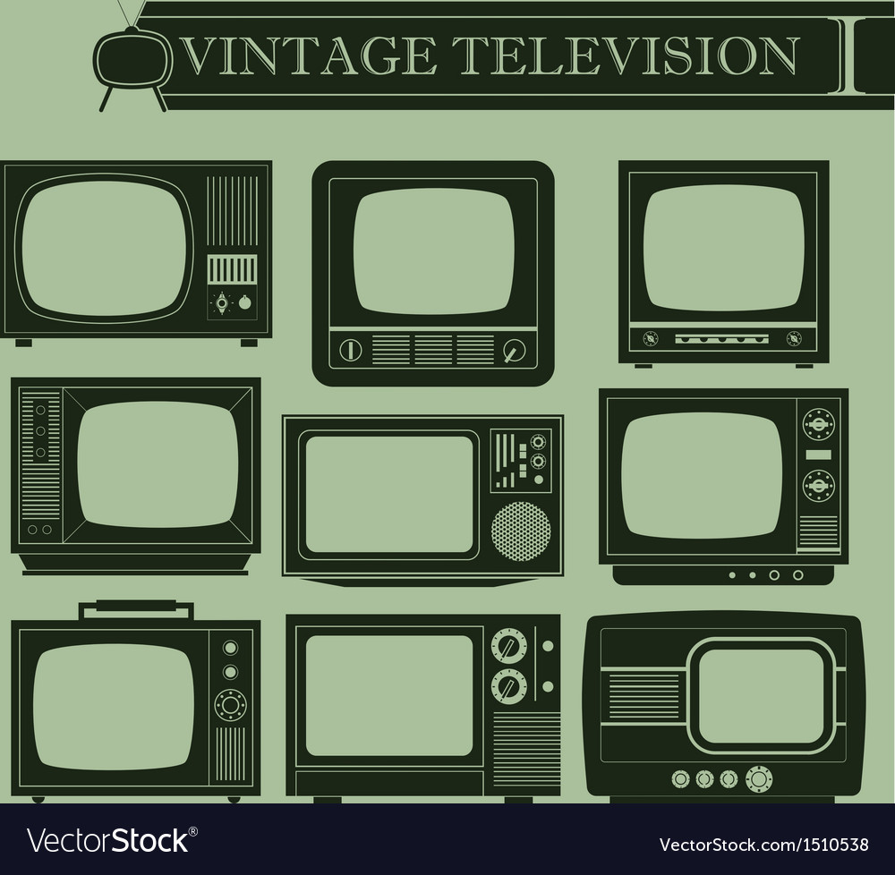 Vintage television i vector | Price: 1 Credit (USD $1)
