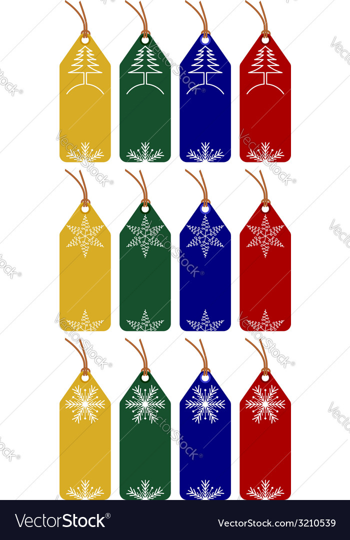 Christmas or winter tags vector | Price: 1 Credit (USD $1)