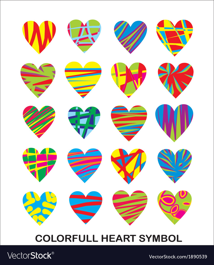 Colorfull heart symbol vector | Price: 1 Credit (USD $1)