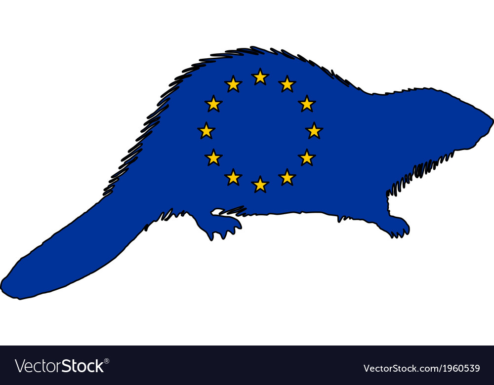 European beaver vector | Price: 1 Credit (USD $1)