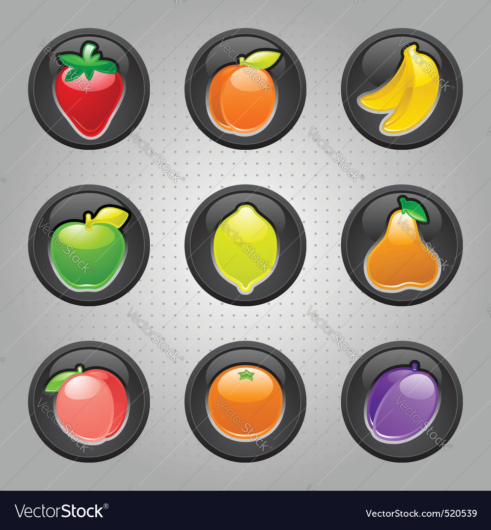 Fruit machine icons vector | Price: 3 Credit (USD $3)