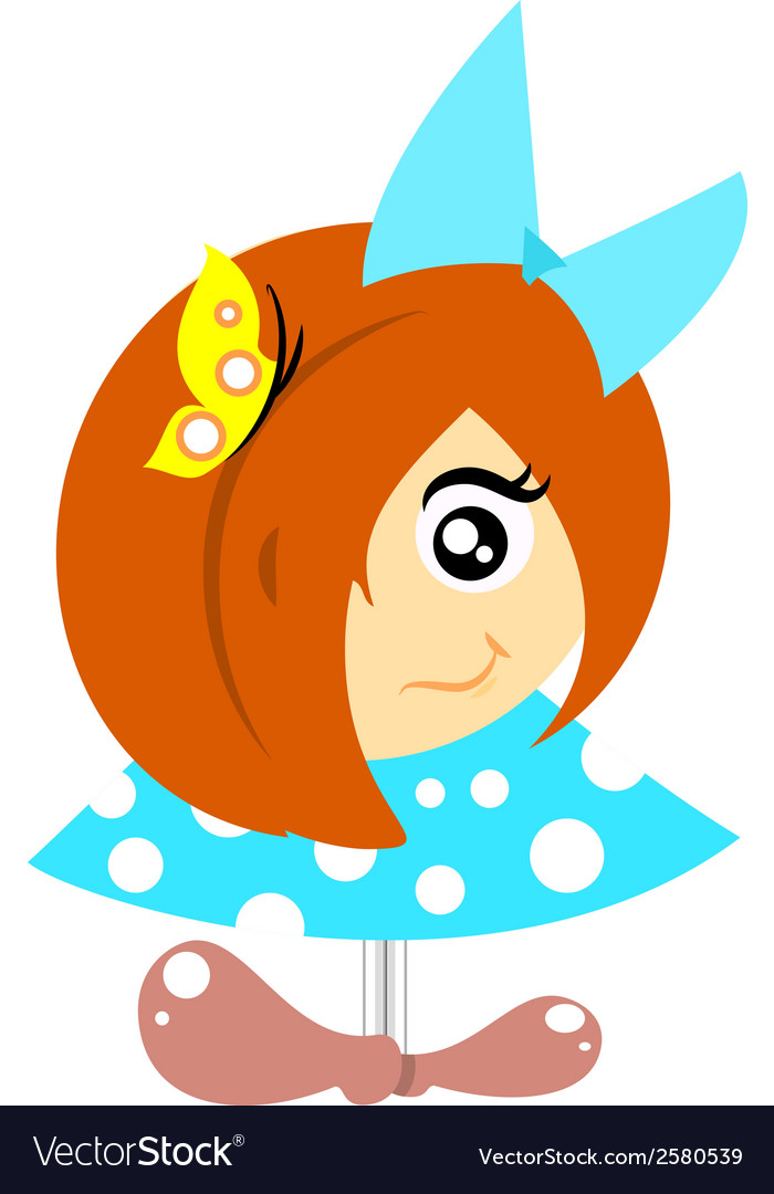 Little girl vector | Price: 1 Credit (USD $1)