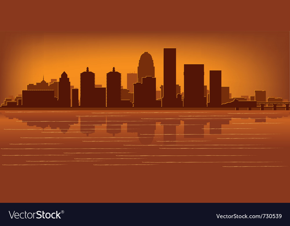 Louisville kentucky skyline vector | Price: 1 Credit (USD $1)