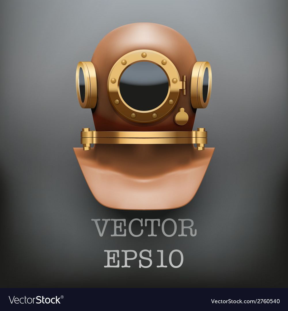 Background of underwater diving suit helmet vector | Price: 1 Credit (USD $1)